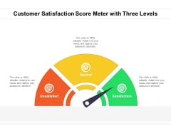 Customer Satisfaction Score Meter With Three Levels Ppt PowerPoint Presentation Gallery Smartart PDF