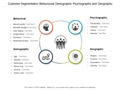 Customer Segmentation Behavioural Demographic Psychographic And Geographic Ppt Powerpoint Presentation File Format Ideas