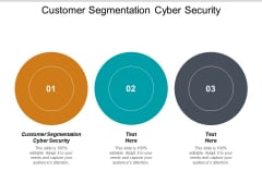 Customer Segmentation Cyber Security Ppt PowerPoint Presentation Layouts Examples Cpb