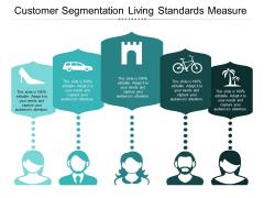Customer Segmentation Living Standards Measure Ppt PowerPoint Presentation Visual Aids Layouts
