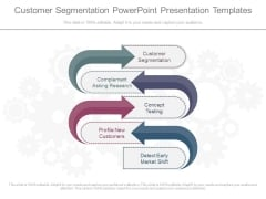 Customer Segmentation Powerpoint Presentation Templates