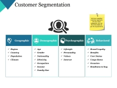 Customer Segmentation Ppt PowerPoint Presentation Infographic Template Background Images
