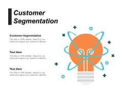 Customer Segmentation Ppt PowerPoint Presentation Styles Deck Cpb