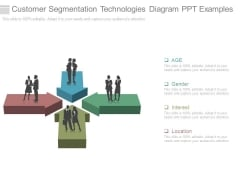 Customer Segmentation Technologies Diagram Ppt Examples