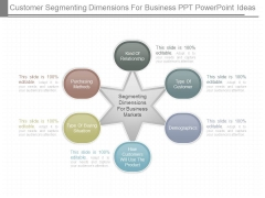 Customer Segmenting Dimensions For Business Ppt Powerpoint Ideas