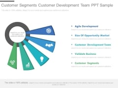 Customer Segments Customer Development Team Ppt Sample