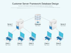 Customer Server Framework Database Design Ppt PowerPoint Presentation Gallery Deck PDF