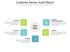 Customer Service Audit Report Ppt PowerPoint Presentation Portfolio File Formats Cpb Pdf
