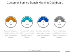 Customer Service Bench Marking Dashboard Ppt PowerPoint Presentation Summary Format
