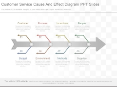 Customer Service Cause And Effect Diagram Ppt Slides