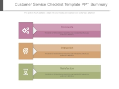 Customer Service Checklist Template Ppt Summary