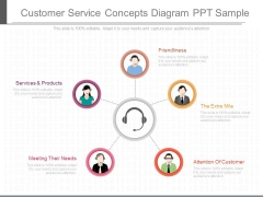 Customer Service Concepts Diagram Ppt Sample