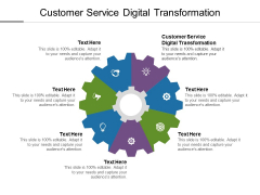Customer Service Digital Transformation Ppt PowerPoint Presentation Show Graphics Example Cpb