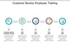 Customer Service Employee Training Ppt PowerPoint Presentation Styles Template Cpb