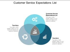Customer Service Expectations List Ppt PowerPoint Presentation Ideas Pictures Cpb