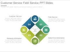Customer Service Field Service Ppt Slides