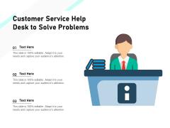 Customer Service Help Desk To Solve Problems Ppt PowerPoint Presentation Professional Microsoft PDF
