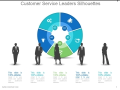 Customer Service Leaders Silhouettes Powerpoint Slide Deck