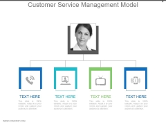 Customer Service Management Model Powerpoint Slide Deck Samples
