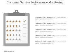 Customer Service Performance Monitoring Ppt PowerPoint Presentation Example 2015