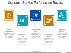 Customer Service Performance Review Template 1 Ppt PowerPoint Presentation Infographic Template Graphics Download