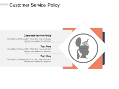 Customer Service Policy Ppt PowerPoint Presentation Model Background Designs Cpb