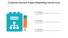 Customer Service Project Reporting Vector Icon Ppt Summary Infographic Template PDF