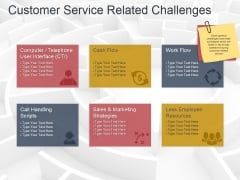 Customer Service Related Challenges Ppt PowerPoint Presentation Infographic Template Styles