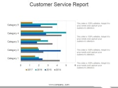 Customer Service Report Template 2 Ppt PowerPoint Presentation Portfolio Professional
