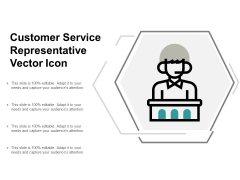 Customer Service Representative Vector Icon Ppt Powerpoint Presentation Gallery Rules
