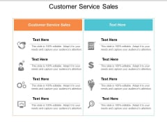 Customer Service Sales Ppt Powerpoint Presentation Slides Microsoft Cpb