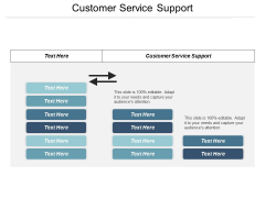 Customer Service Support Ppt PowerPoint Presentation Infographic Template Slideshow