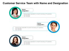 Customer Service Team With Name And Designation Ppt PowerPoint Presentation File Deck