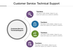 Customer Service Technical Support Ppt PowerPoint Presentation Infographics Background Cpb