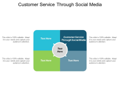 Customer Service Through Social Media Ppt PowerPoint Presentation Model Portfolio Cpb