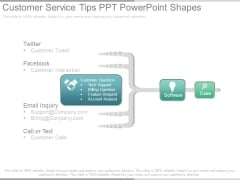 Customer Service Tips Ppt Powerpoint Shapes