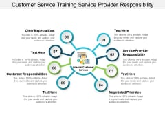 customer service training service provider responsibility ppt powerpoint presentation show templates