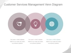 Customer Services Management Venn Diagram Ppt PowerPoint Presentation Example