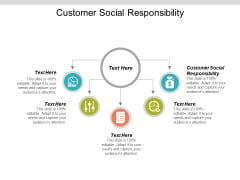 Customer Social Responsibility Ppt PowerPoint Presentation Icon Skills Cpb