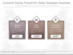 Customer Stories Powerpoint Slides Templates Download
