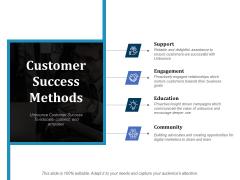 Customer Success Methods Ppt PowerPoint Presentation Portfolio Example
