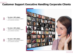 Customer Support Executive Handling Corporate Clients Ppt PowerPoint Presentation File Slide Download PDF