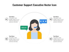 Customer Support Executive Vector Icon Ppt PowerPoint Presentation File Background PDF