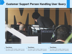 Customer Support Person Handling User Query Ppt PowerPoint Presentation Layouts Microsoft PDF