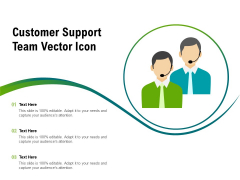 Customer Support Team Vector Icon Ppt PowerPoint Presentation Ideas Graphics Template