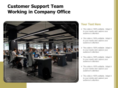 Customer Support Team Working In Company Office Ppt PowerPoint Presentation Inspiration Clipart Images PDF