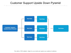 Customer Support Upside Down Pyramid Ppt PowerPoint Presentation Ideas Icon Cpb