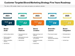 Customer Targeted Brand Marketing Strategy Five Years Roadmap Infographics