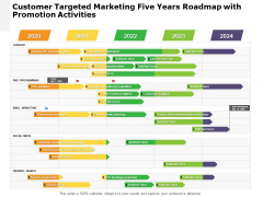 Customer Targeted Marketing Five Years Roadmap With Promotion Activities Brochure