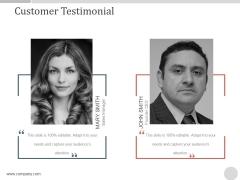 Customer Testimonial Ppt PowerPoint Presentation Design Ideas